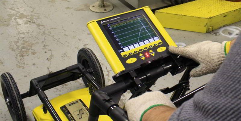 GPR or Ground Penetrating Radar is a geophysical technique to find minerals or bedrock and is used for placer, gold, or geology.